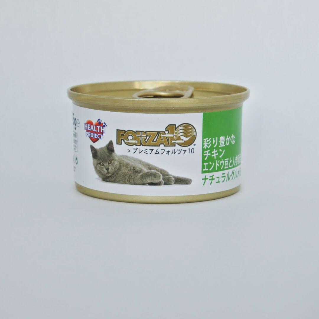 プレミアムFORZA10 ナチュラルグルメ缶 彩り豊かなチキン エンドウ豆と人参添え