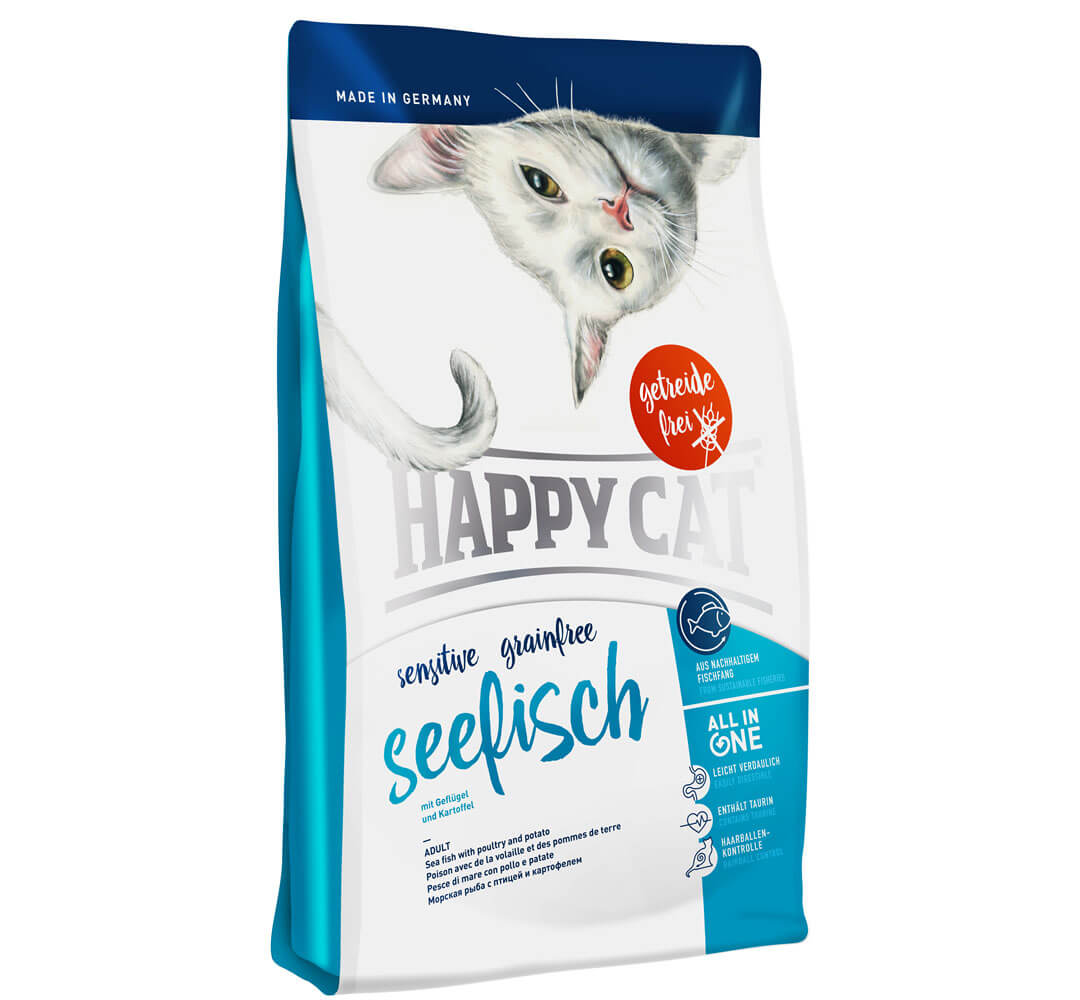 HAPPY CAT センシティブ グレインフリーシーフィッシュ(チキン&シーフィッシュ)