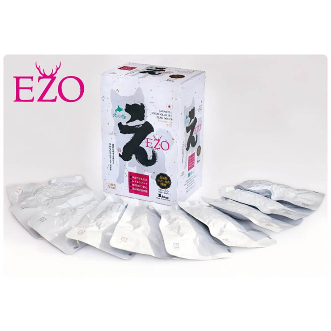 無添加セミモイストフード[EZO・エーゾー]1kg 箱(一般食・成犬用)