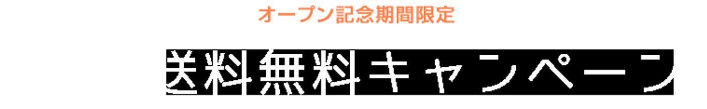 オープン記念期間限定 送料無料キャンペーン